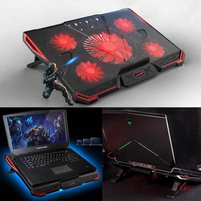 Wind Refroidisseur Pc Portable Refroidissement Rapide 5 Ventilateurs Support Ventile Gamer Gaming Plaque Prix Pas Cher Cdiscount