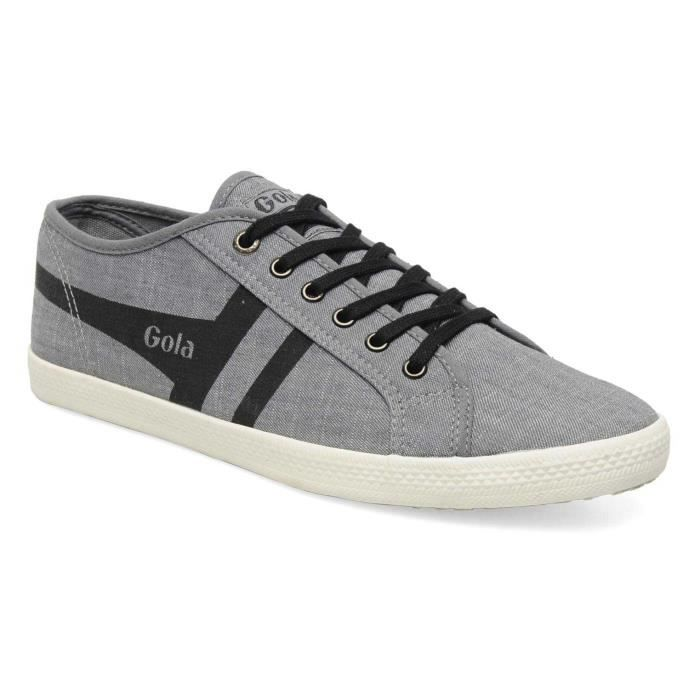 Chaussure Basse Gola Quattro Chambray Grey Black Homme Pointure 44