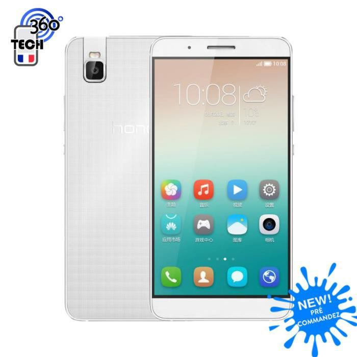 huawei honor 7i 4g lte argent blanc 3go ram 32go rom cam ra r versible 13 0mp achat smartphone. Black Bedroom Furniture Sets. Home Design Ideas