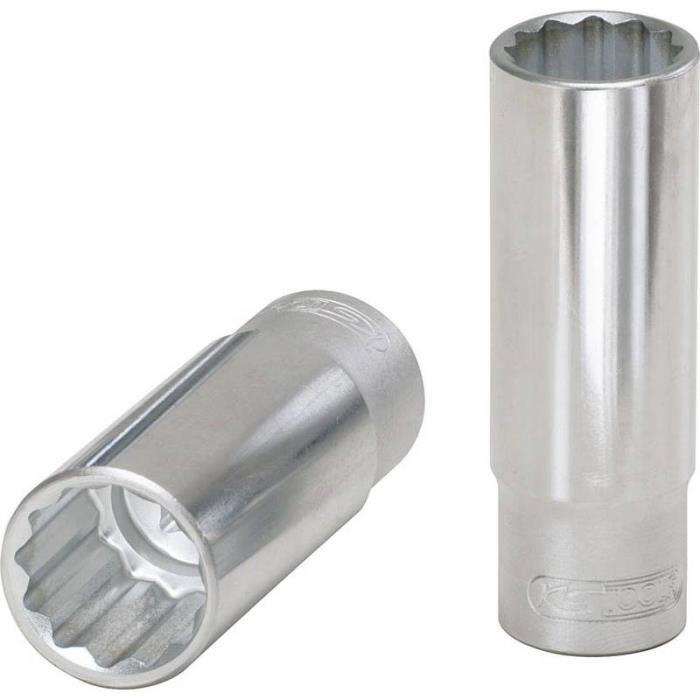 Douille longue 19 mm impact 6 pans 1//2/'/'