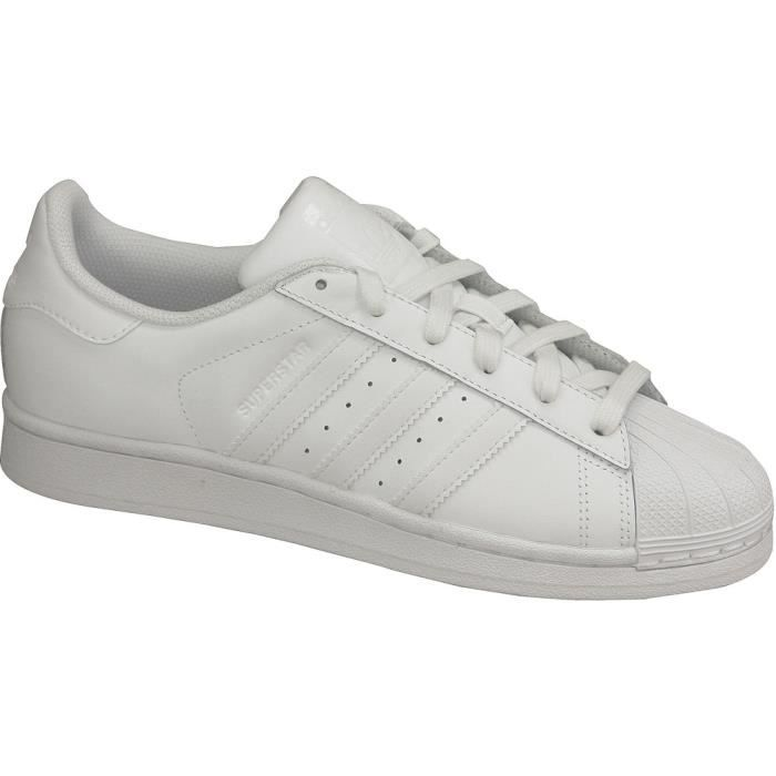 "BASKET Adidas Superstar Junior Foundation B23641""Blanc"""