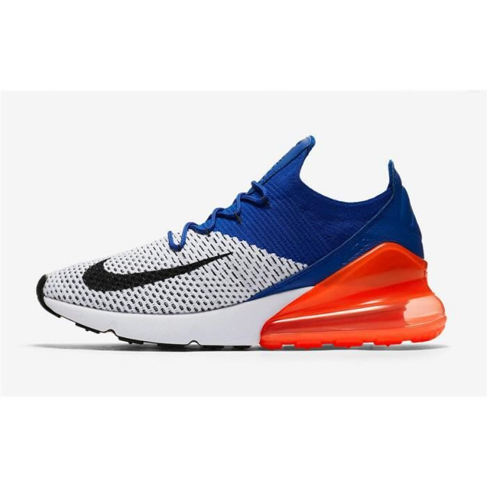 new style f6f0a f66e3 Nike Air Max 270 Flyknit Chaussure De Running Pour Homme Beige Bleu Orange