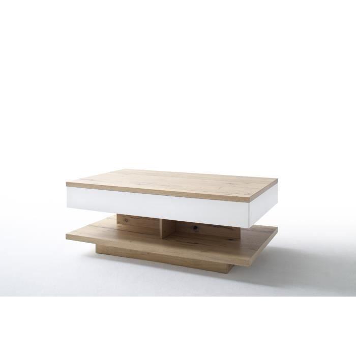 Table Basse Avec Rallonge En Chene Crack L115 150 X H45 X P70 Cm