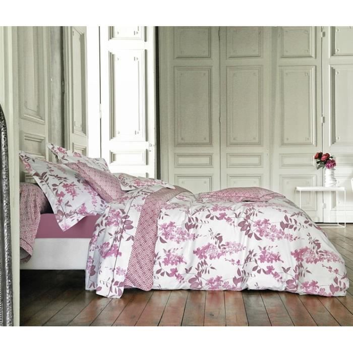 idylle cyclamen ensemble housse de couette 200x achat. Black Bedroom Furniture Sets. Home Design Ideas