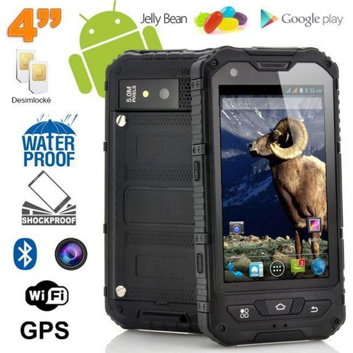 smartphone antichoc 4 pouces waterproof android achat. Black Bedroom Furniture Sets. Home Design Ideas