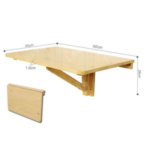 Table mural achat vente table mural pas cher cdiscount for Grande table murale rabattable