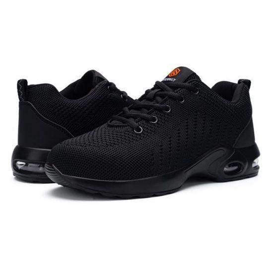 DYKHMILY Chaussures de S/écurit/é Homme Legere Respirant Embout Acier Basket de Securite Chaussures de Travail Antid/érapant