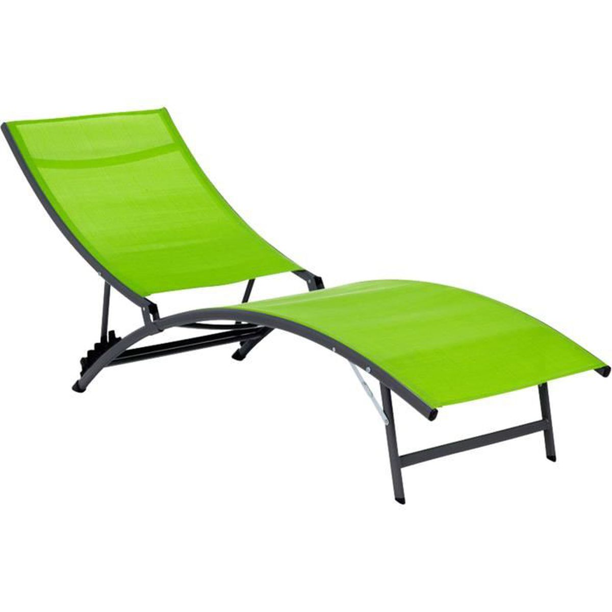 zeus transat bain de soleil vert en textil ne achat vente chaise longue zeus transat. Black Bedroom Furniture Sets. Home Design Ideas