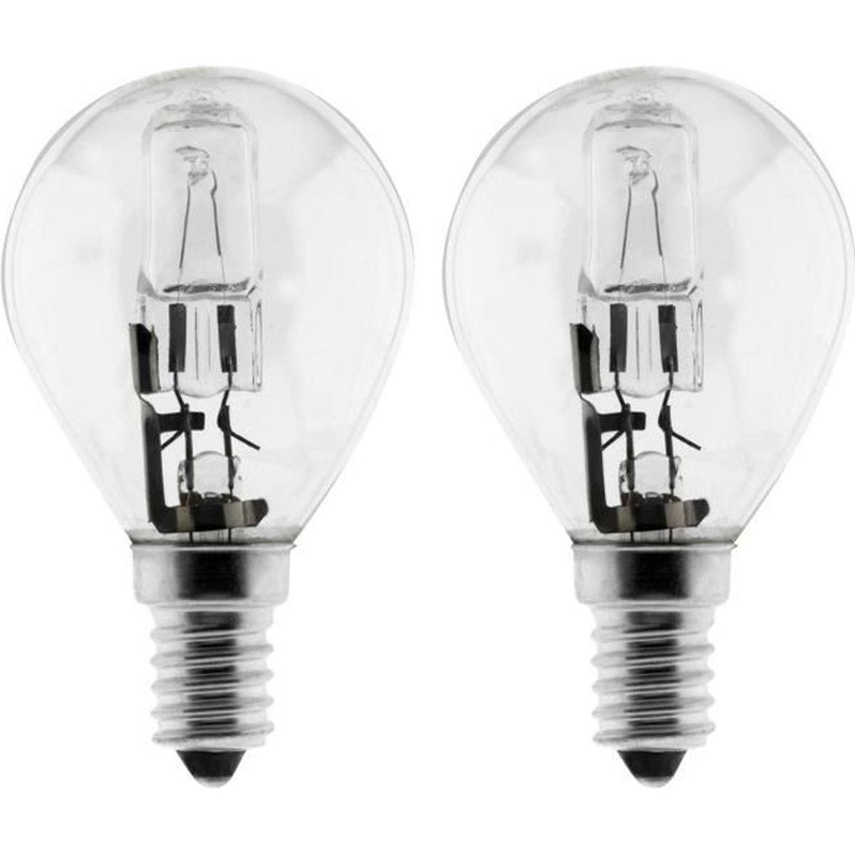 10 x Bougie Eco Halogène Ampoule 28w = 40w e14 AMPOULE bougies blanc chaud variateur