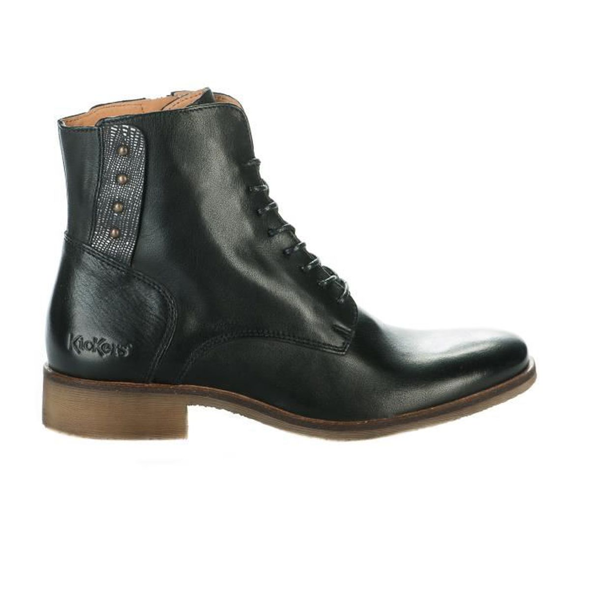 bottines / low boots life natur femme kickers 512020 noir - achat