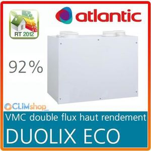 vmc double flux atlantic duolix eco haut rendement 92. Black Bedroom Furniture Sets. Home Design Ideas