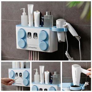 PORTE SECHE-CHEVEUX Distributeur automatique de dentifrice 4 en 1 + br