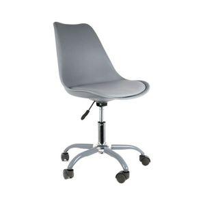 CHAISE DE BUREAU Chaise de bureau Kiruna gris Autres Gris