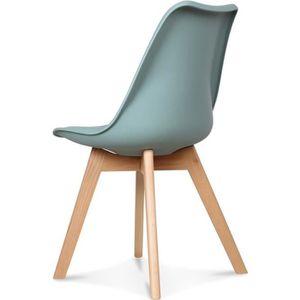 Chaise Style Scandinave Vert d'Eau