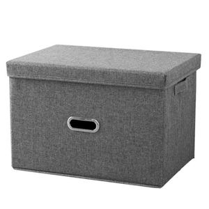 BOITE DE RANGEMENT LEEGOAL Boîte de rangement pliante en coton et lin
