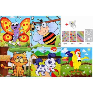 PUZZLE 5pcs Jouet Puzzle Enfant en Bois, Jouet Éducatif P