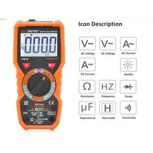 MULTIMÈTRE Multimètre Numérique Janisa PM18 DC Testeur Electr