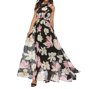 Neuf noir rose vert jaune violet blanc été motif floral strappy sun dress 50s vtg
