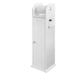 BROSSE WC SoBuy® FRG135-W Support Papier Toilette Armoir Por