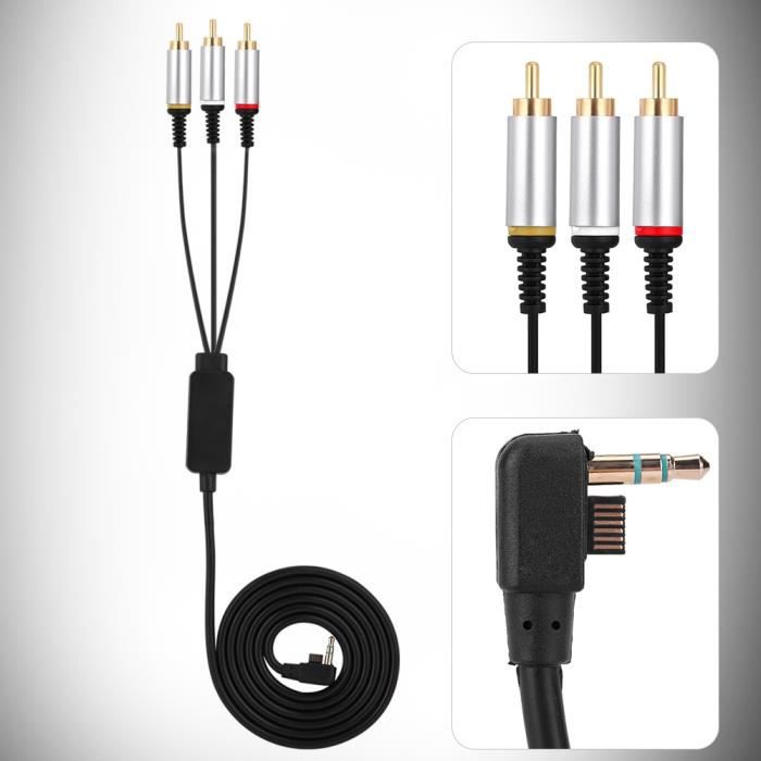 1.5 m composant ABS TV plomb câble AV Câble audio vidéo Câble AV pour PSP 1000 2000 3000 -OHL