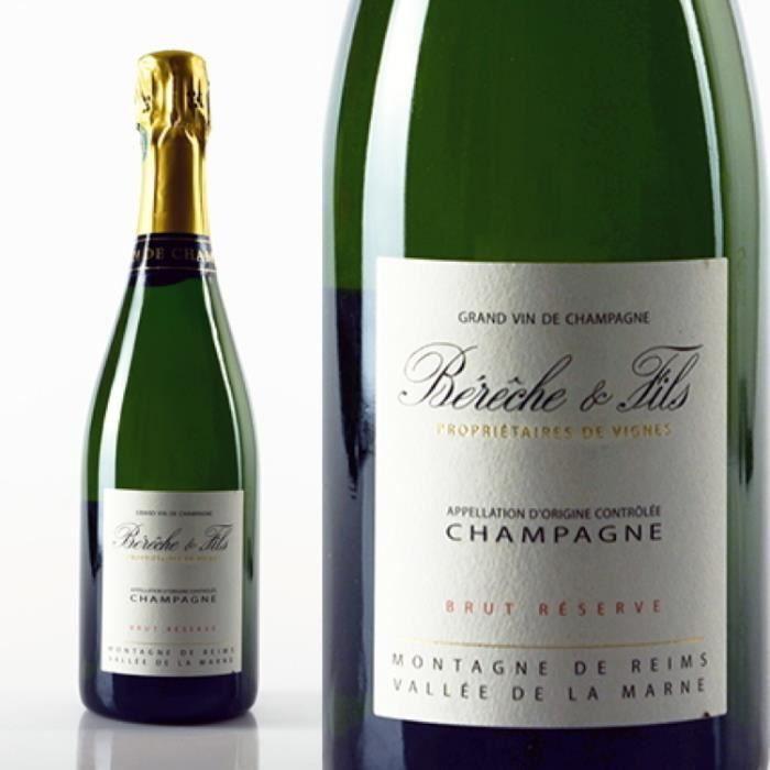 Champagne et Méthode Traditionnelle - Champagne Brut Réserve Blanc