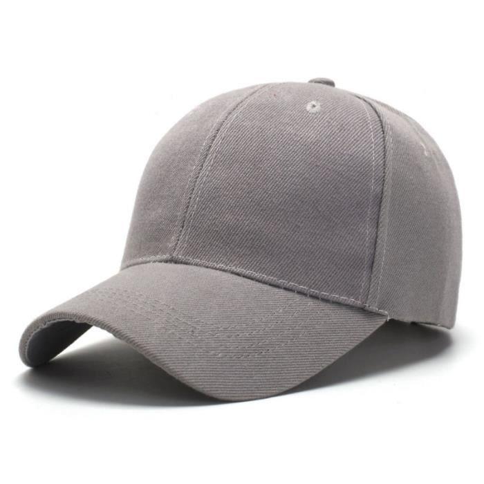 CASQUETTE Mixte - Baseball de couleur unie de style simple - Gris XC™