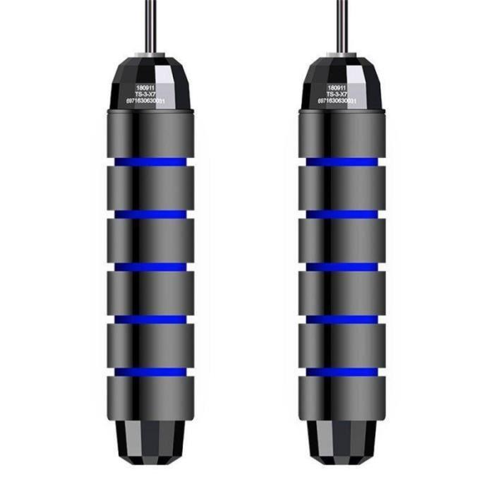Accessoires Fitness - Musculation,Enfant adulte intérieur corde à sauter saut exercice vitesse corde à sauter - Type black blue