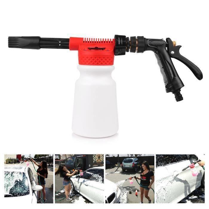 Lavage de voiture Neige Foam Gun, Foam Car Washer, Pistolet a mousse Pulvérisateur Lance 900ML Pour Voiture & Jardin Nettoyage