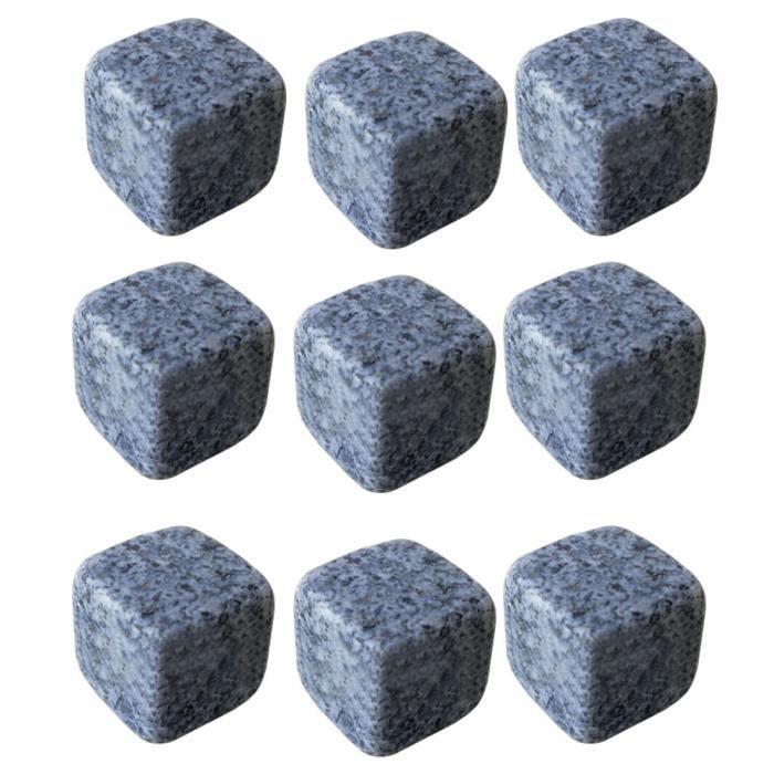 9 pcs whisky Ice cube granit pierres Vin Boissons refroidisseur cubes accessoires vin
