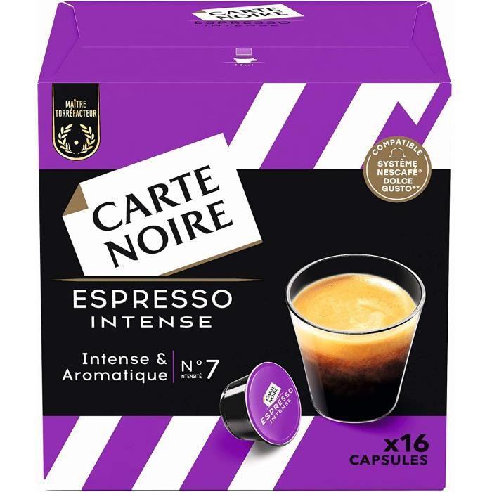 Carte Noire Café Espresso Intense, Capsules Compatibles Dolce Gusto, 6 Paquets de 16 capsules (96 Capsules)[151]