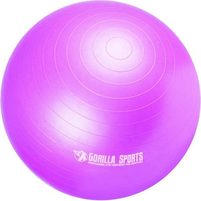 Ballon de gymnastique de couleur violet mat - Taille : 55 cm