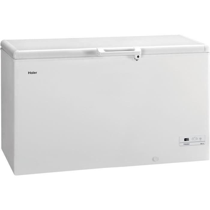 HAIER BD429RAAE - Congélateur coffre - 429L - Froid statique - A+ - L141 x H84,5 - Blanc