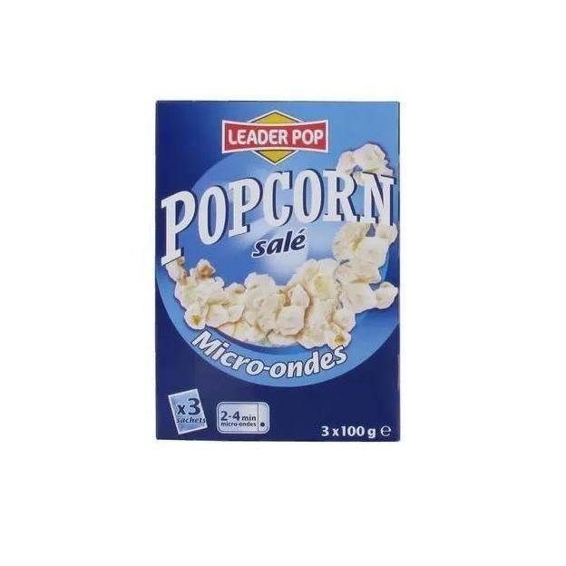 [Lot de 10] Popcorn salé - x 3 sachets - 300g