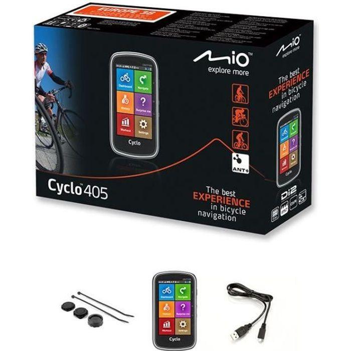 MIO GPS vélo 210 FEU - Processeur ARM Cortex-A7 - GPS Chipset U-blox 7 - Écran tactile 3,5-- 320 x 480 - 68 x 114 x 18,6 mm