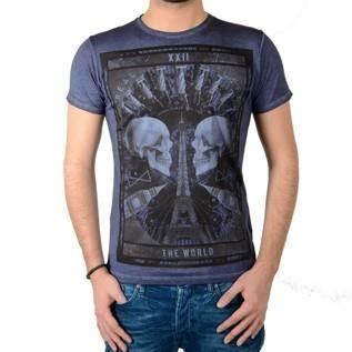 Tee Shirt Japan Rags Otavio Bleu...