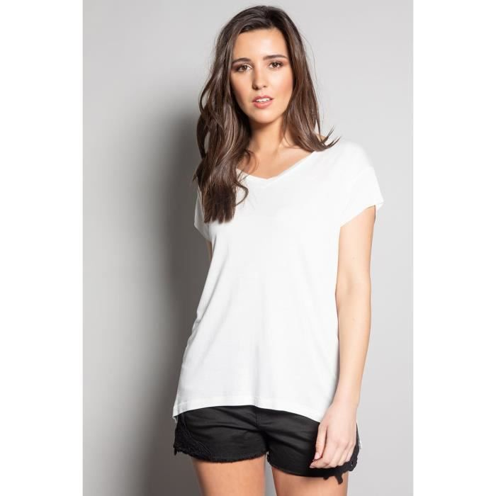 DEELUXE T-shirt fluide à manches courtes SWEET Off White