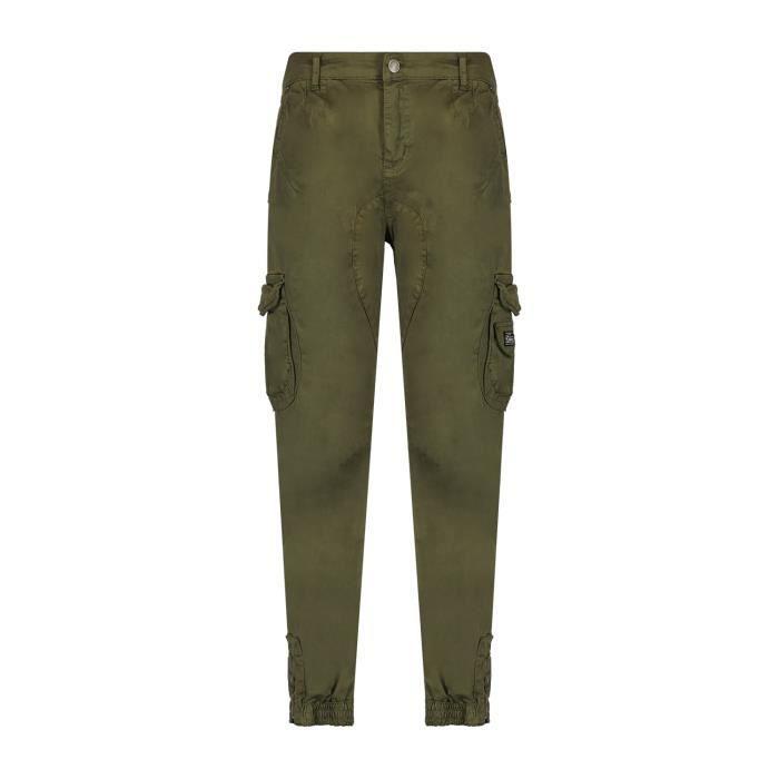 DEELUXE Pantalon cargo à poches GARDEN Olive
