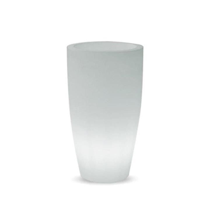 Pot de fleurs Lumineux Bambù Light 12 L Blanc Ø…