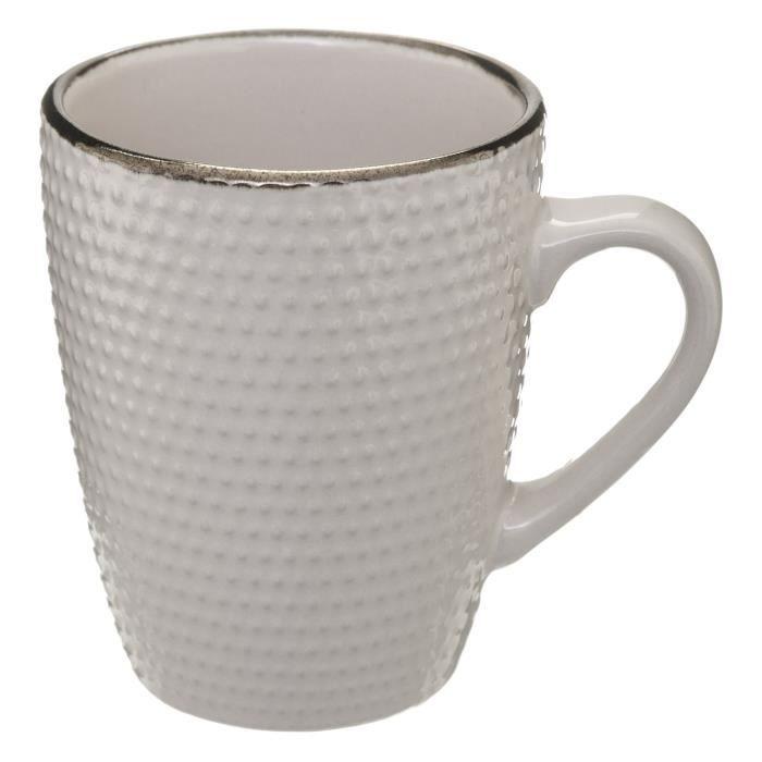 Mug scandinave Perle - 320 ml - Blanc rose