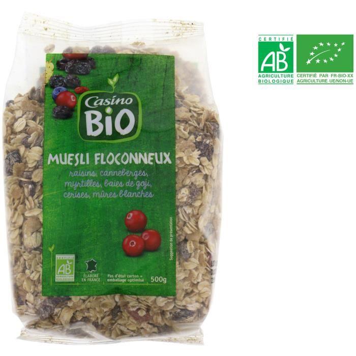 Muesli floconneux aux fruits rouges - 500 g