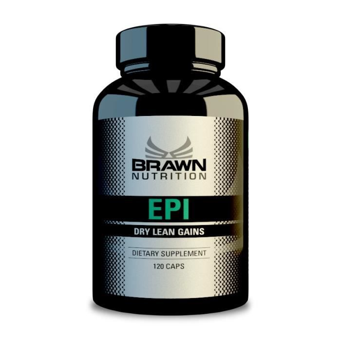 STIMULANT HORMONAUX BRAWN EPI (EPISTANE) --- 120 caps x 10 mg Dry Lean