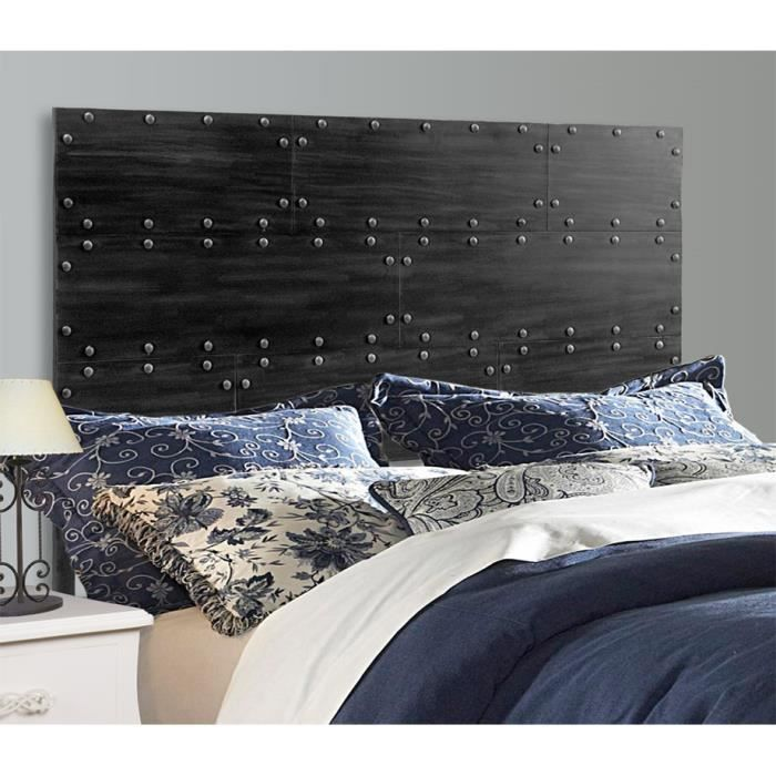 t tes de lit style industriel mod le texas 160cms achat vente t te de lit t tes de lit. Black Bedroom Furniture Sets. Home Design Ideas