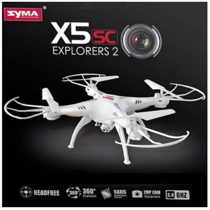 syma x5sc x5sc 1 mode headless cf 4ch 6 axis 2 4g drone h licopt re avec 2 0mp cam ra rc. Black Bedroom Furniture Sets. Home Design Ideas