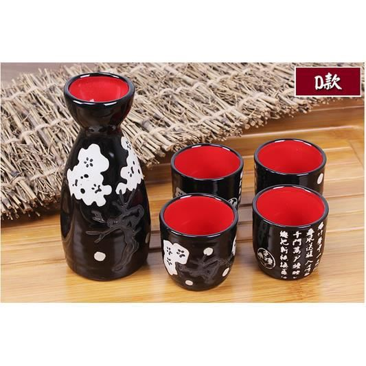 tasse ensemble japonais c ramique 120ml un pot quatre verre achat vente service th. Black Bedroom Furniture Sets. Home Design Ideas