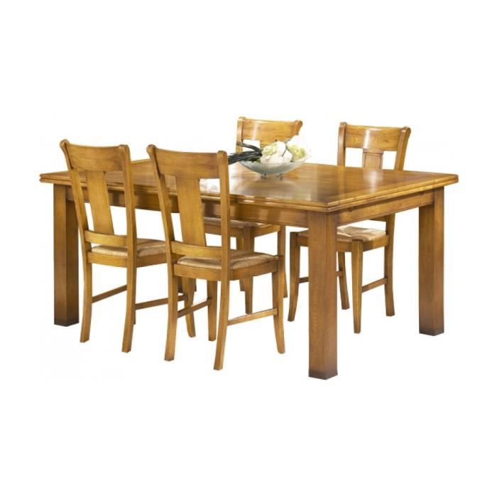 Table ch ne rectangulaire l160 achat vente table for Table a manger rectangulaire