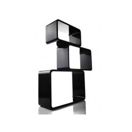 tag re design cube set de 3 rectangle noir achat. Black Bedroom Furniture Sets. Home Design Ideas