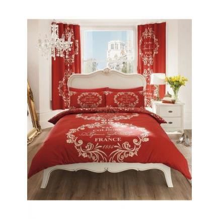 paris parure de lit 140cm achat vente parure de drap cdiscount. Black Bedroom Furniture Sets. Home Design Ideas