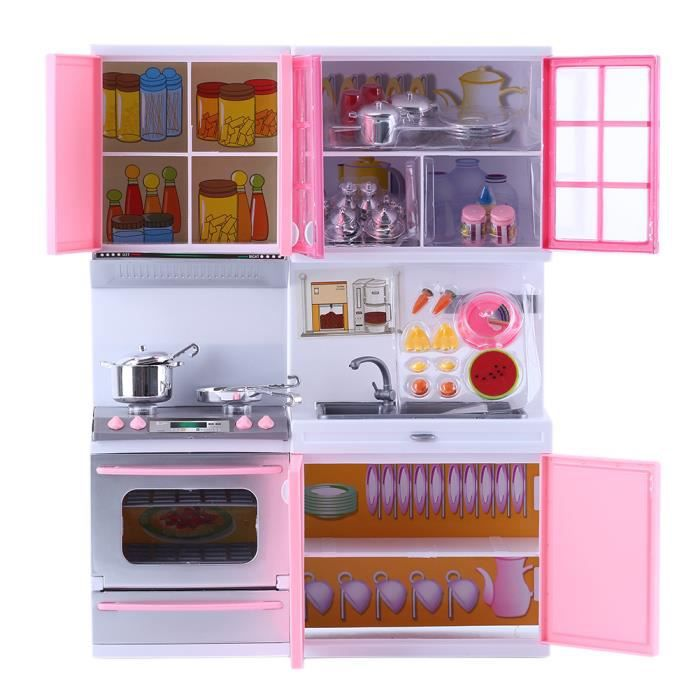 cuisine jouets jeu ducatifs mini d nette cuisini re cabinet enfant fille rose achat vente. Black Bedroom Furniture Sets. Home Design Ideas