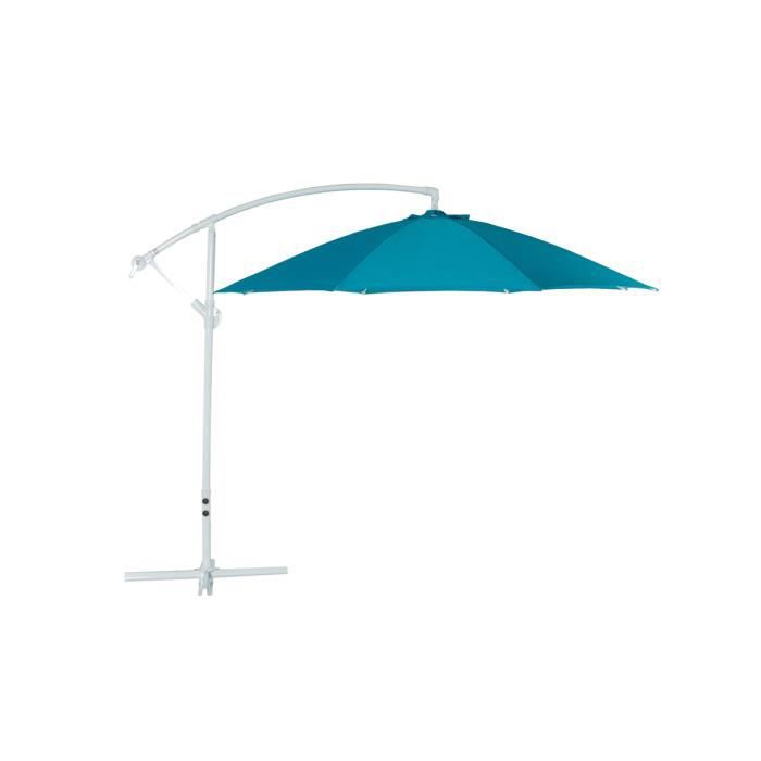 parasol excentr bleu solex achat vente parasol. Black Bedroom Furniture Sets. Home Design Ideas