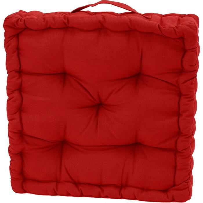 coussin de sol serge rouge 40x40x10 achat vente coussin cdiscount. Black Bedroom Furniture Sets. Home Design Ideas